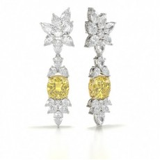 Yellow Diamond Designer Earring