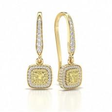 Kissen Gelbgold Diamant Designer Ohrringe