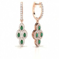 Marquise Rose Gold Diamond Earrings