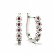 Platine Prêts à Livrer Boucles d'oreilles Diamant