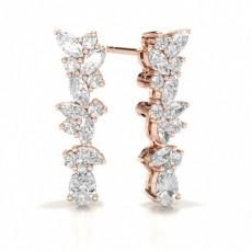 Marquise Rose Gold Designer Earrings