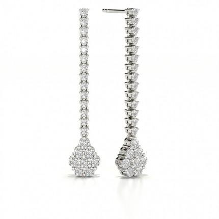 Runde Diamant Journey Ohrringe in einer Krappenfassung