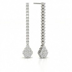 Prong Setting Round Diamond Journey Earrings