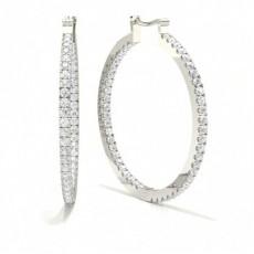 Platinum Hoops Earrings