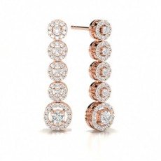 Rose Gold Journey Earrings