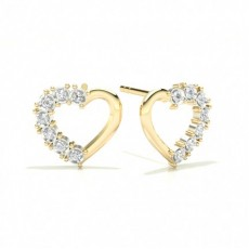 Pave Setting Round Diamond Designer Earrings
