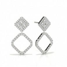 Silver Designer Diamond Earrings