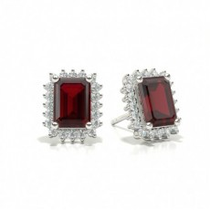 Emerald Ruby Diamond Earrings