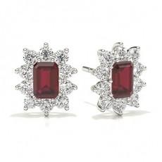 Emerald Ruby Earrings