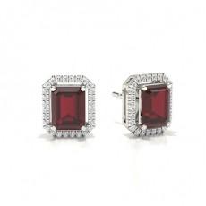 Emerald Ruby Diamond Earrings