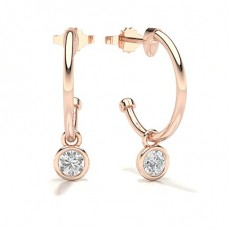 Rose Gold Hoops Earrings