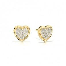 Clous d'oreilles diamants ronds sertis griffes partagées