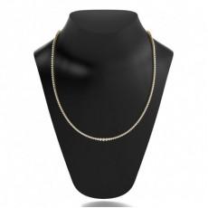 Yellow Gold Tennis Necklace Pendants