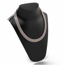 Rose Gold Tennis Necklaces Diamond Pendants