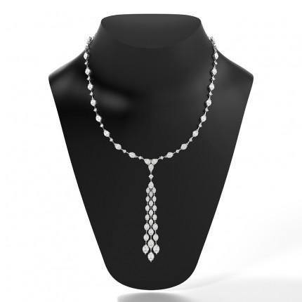 Tennis-Halskette in Krappenfassung