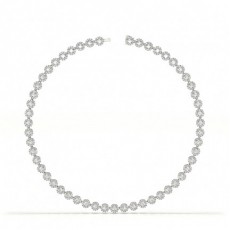 White Gold Tennis Necklaces Diamond Pendants