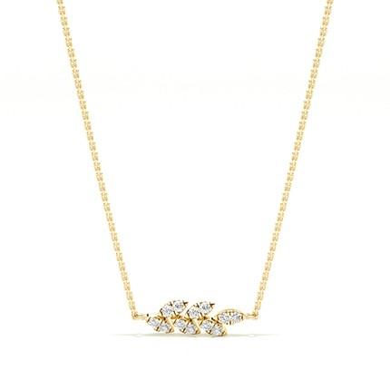 Micro Prong Setting Diamond Designer Necklace
