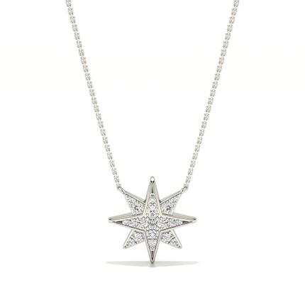 zarte Halskette mit Diamanteinstellung