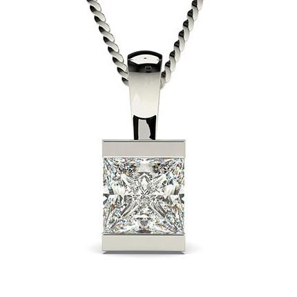 Diamant Anhänger in einer Balkenfassung