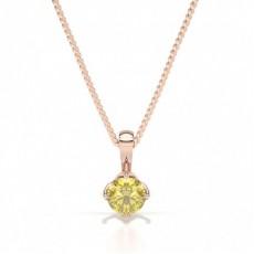 Rose Gold Yellow Diamond Pendants