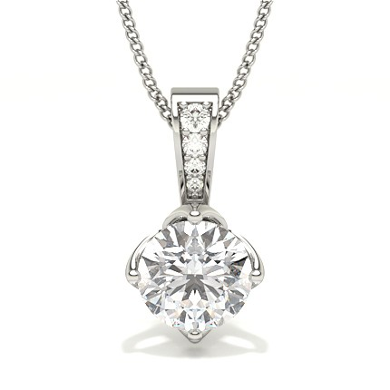 4 Prong Setting Solitaire Pendant