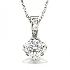 4 Prong Setting Solitaire Pendant (Available from 0.20ct. to 2.00ct.)
