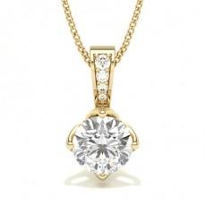 Diamant Anhänger in einer Krappenfassung - CLPD5_01