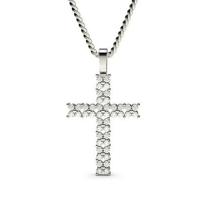 4 Prong Setting Cross Pendant