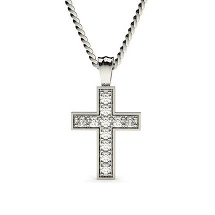 Pave Setting Cross Pendant