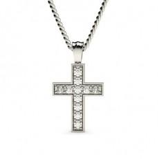 Pave Setting Cross Pendant - CLPD11_05