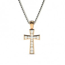 Channel Setting Cross Pendant - CLPD11_03