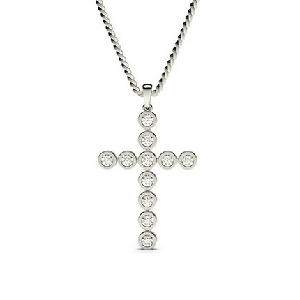 Full Bezel Setting Cross Pendant