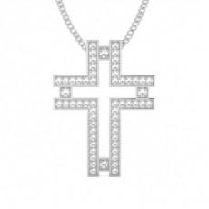 Pave Setting Cross Pendant - CLPD439_06