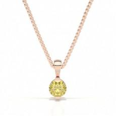 Or Rose Pendentifs Diamant Jaune