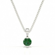 Bar Setting Classic Emerald Pendant