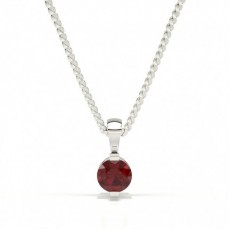 Bar Setting Classic Ruby Pendant