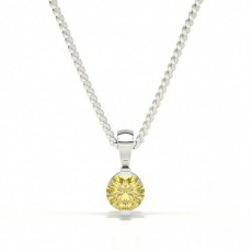 Bar Set Yellow Diamond Solitaire Pendant