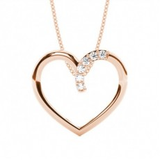 Prong Setting Heart Pendant - CLPD466_01