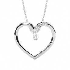 Prong Setting Heart Pendant