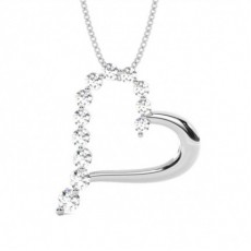 2 Prong Setting Heart Pendant