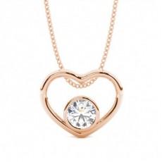 Rose Gold Heart Pendants