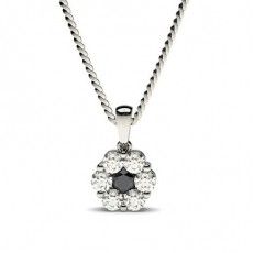 Round Black Diamond Pendants