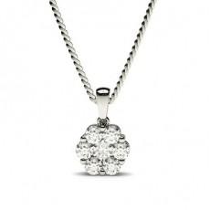 Round Diamond Pendants Necklaces