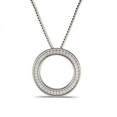 Baguette Diamond Pendants