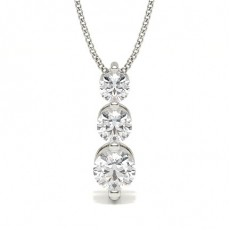 White Gold Journey Diamond Pendants Necklaces
