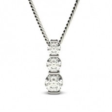 Bar Setting Round Diamond Journey Pendant