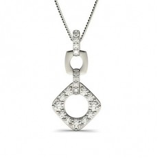 Prong Setting Round Diamond Drop Pendant - CLPD541_01
