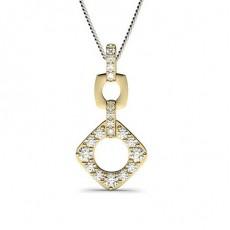 Yellow Gold Drop Diamond Pendants