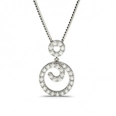 Prong Setting Round Diamond Drop Pendant - CLPD544_01