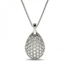 White Gold Designer Diamond Pendants Necklaces